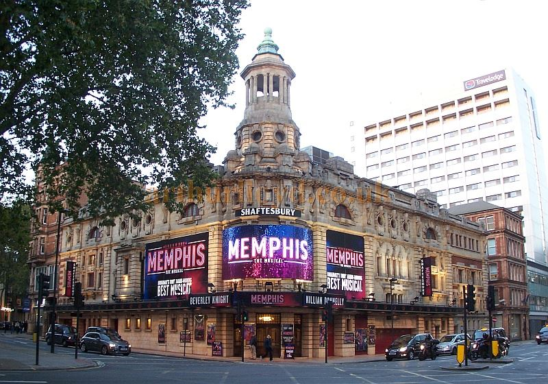 The Shaftesbury Theatre during the run of 'Memphis The Musical' in October 2014 - Photo M. L.