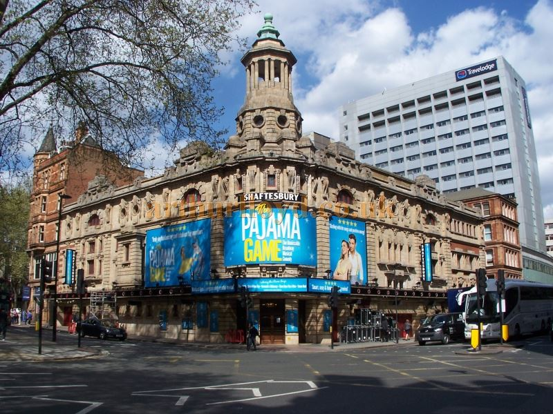 The Shaftesbury Theatre during production for the musical 'Pajama Game' in April 2014 - Photo M. L.