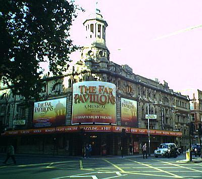 The Shaftesbury Theatre in September 2005 during the run of 'Far Pavilions.' Photo M.L.