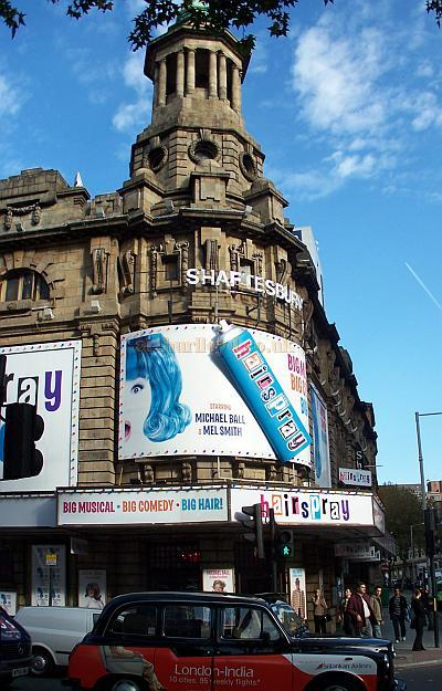 The Shaftesbury Theatre during the run of 'Hairspray' in November 2007 - Photo M.L.