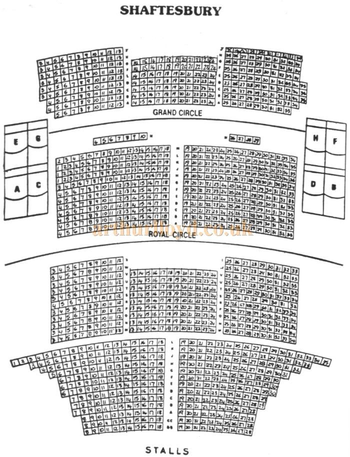 A 1970s Seating Plan for the Shaftesbury Theatre
