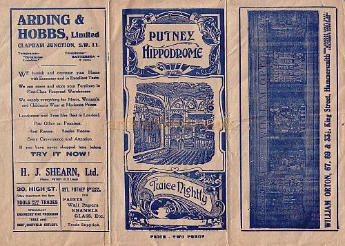 Programme for the Putney Hippodrome