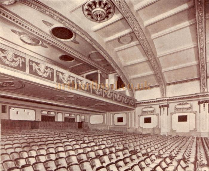The Auditorium of the Putney Palace Theatre - From the Theatre's opening souvenir programme for October 11th 1926.
