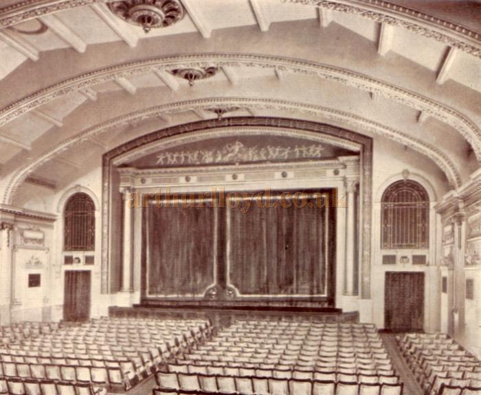 The Stage and Auditorium of the Putney Palace Theatre - From the Theatre's opening souvenir programme for October 11th 1926.