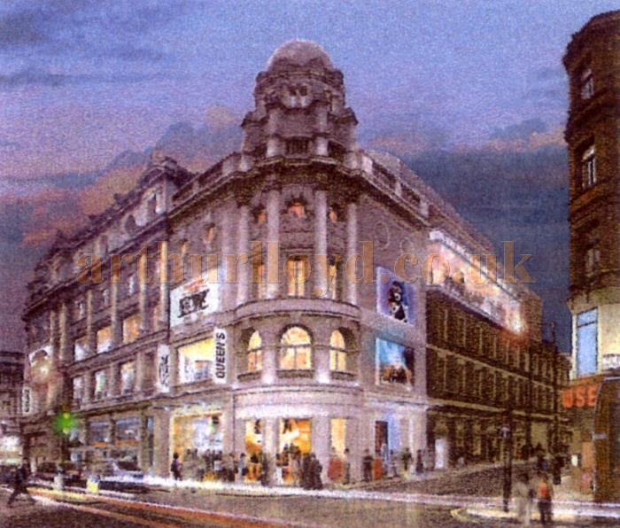 How the new Sondheim Theatre and restored Queen's Theatre would have looked - From a 2003 Delfont Macintosh Press Handout.