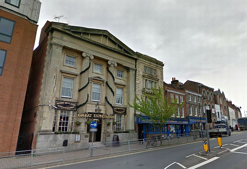 A Google StreetView Image of the former Theatre Royal / Everyman Theatre, Reading - Click to Interact