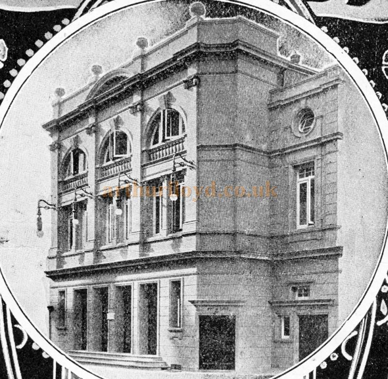 An early photograph of the Palace Theatre, Reading - From a variety programme for the Theatre in 1909