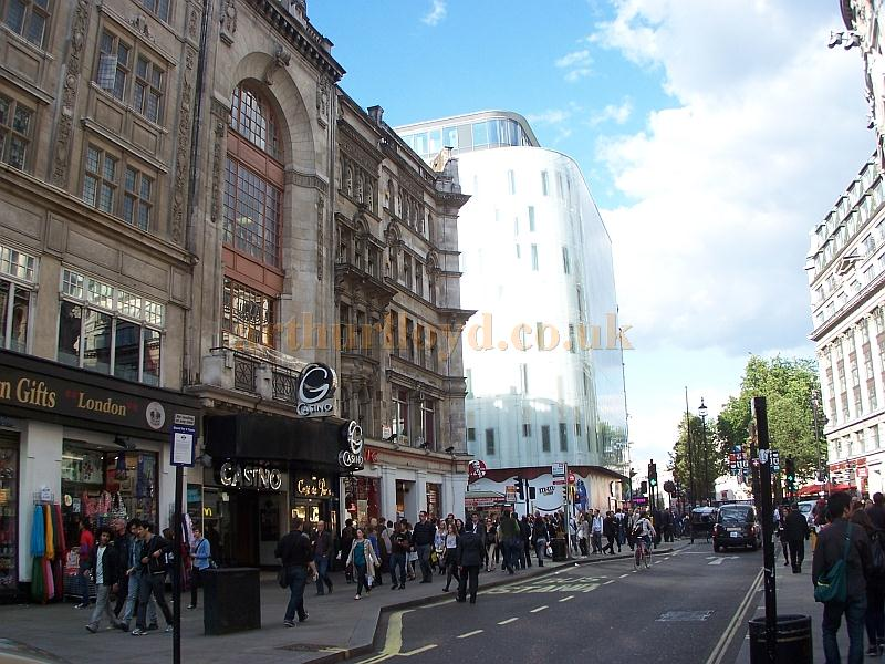 The same view of the Rialto Cinema, Coventry Street as the 1955 photo shown above - Photo M.L. May 2011