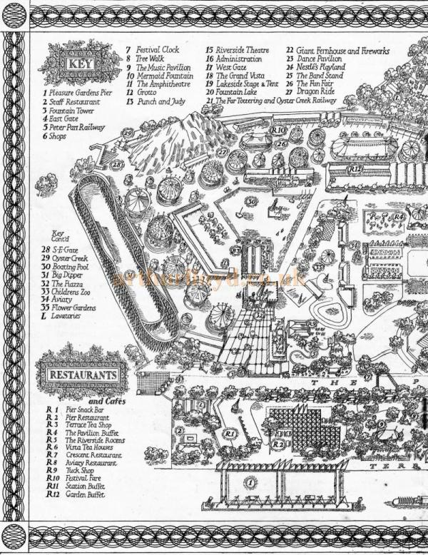 A map of the Festival Pleasure Gardens in 1951 - Courtesy Maurice Poole