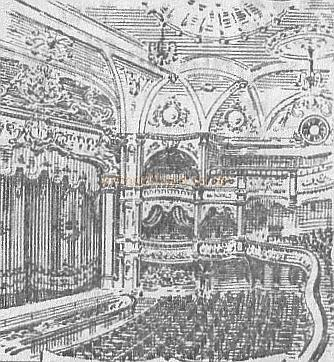 Rotherhithe Hippodrome Auditorium - From a programme - Courtesy Debbie Gosling.