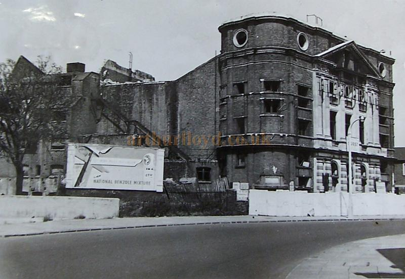 The Rotherhithe Hippodrome during the Theatre's demolition in 1955 - Photograph reproduced with the kind permission of the Southwark Local Studies Library.