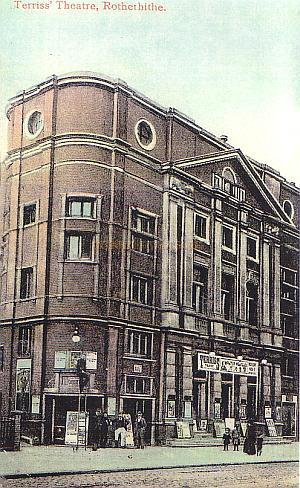 Terriss' Theatre, Rotherhithe - From a postcard Courtesy Debbie Gosling.