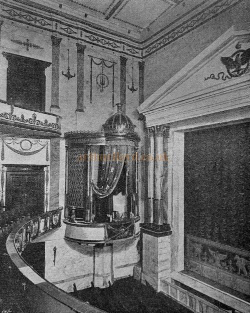The Auditorium, Stage and Royal Box of the Imperial Theatre, Westminster - From 'The Playgoer' 1901 - Courtesy Iain Wotherspoon.
