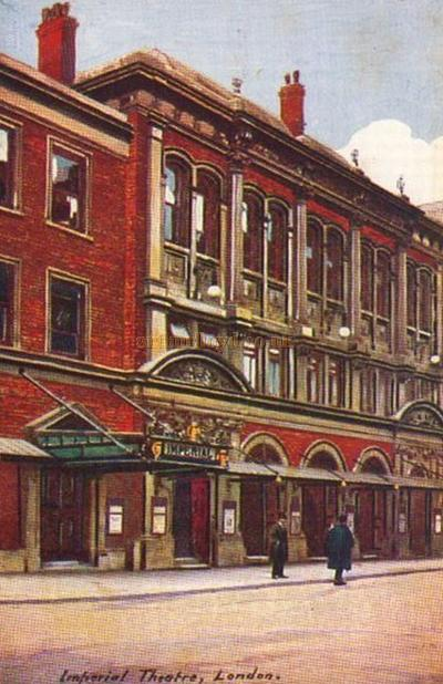 An early postcard depicting the Imperial Theatre, Westminster, London.
