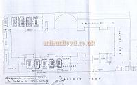 Right - Floor plan of the Westminster Royal Aquarium in 1891 - Courtesy Chris Kearl. - Click to enlarge.