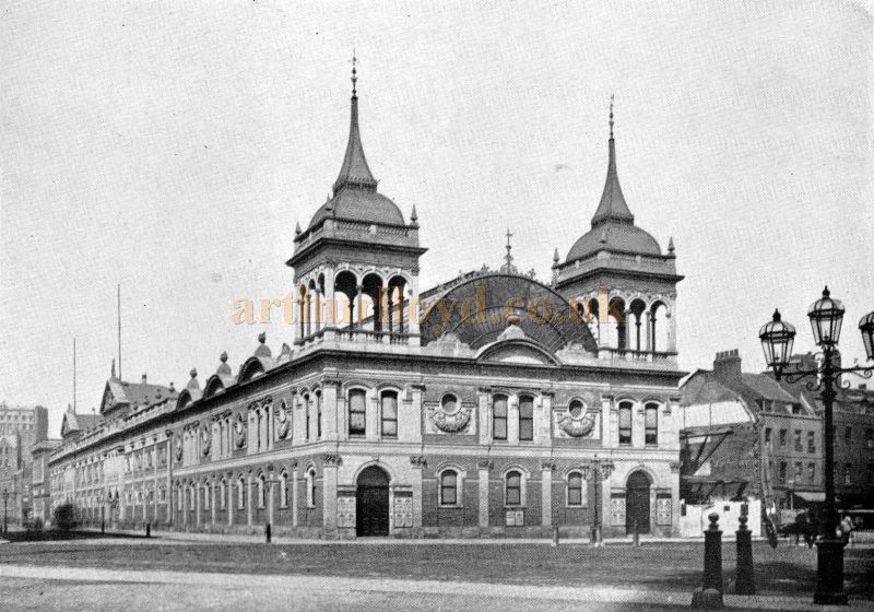 A photograph of the Royal Aquarium - From 'The Face Of London' by Harold P. Clunn 1956.