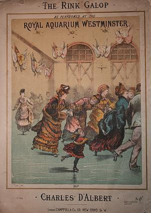 A Song Sheet for 'The Rink Galop' by Charles D'Albert as performed at the Royal Aquarium Westminster - Courtesy Stephan James.