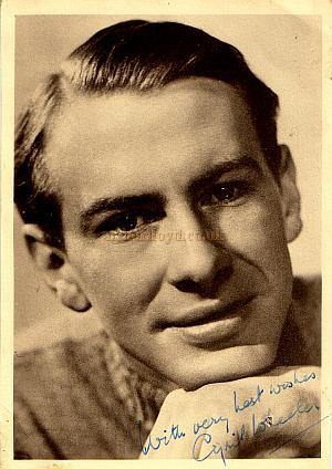 Signed photograph of Cyril Wheeler on the 18th of March 1950 - The back states 'Last show at the Artillery Theatre' - Courtesy Michelle Bowen.