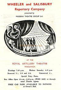 Programme for a Wheeler and Salisbury Repertory Production of 1949 - Courtesy Michelle Bowen.