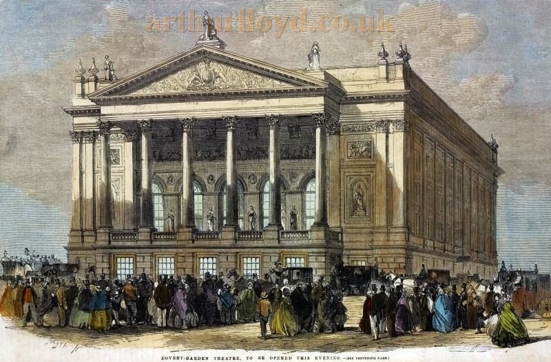 The Covent Garden Theatre on its Opening - From the Illustrated London News, May the 15th 1858