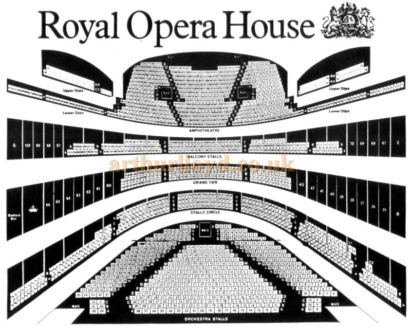 A 1970s / 80s Seating Plan for the Royal Opera House, Covent Garden