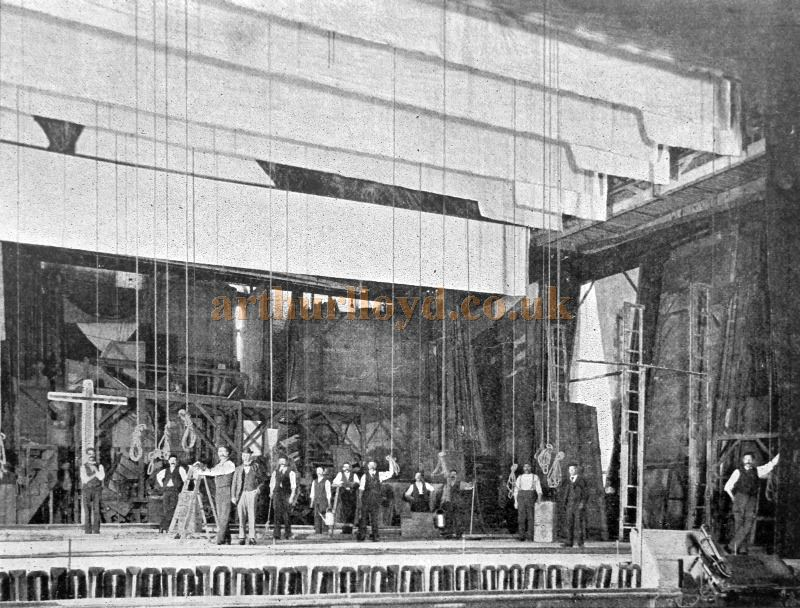 The Stage of the Royal Opera House, Covent Garden in 1901 - From 'Modern Opera Houses and Theatres' by Edwin O Sachs, and held at the Library of the Technical University (TU) in Delft - Kindly sent in by John Otto.