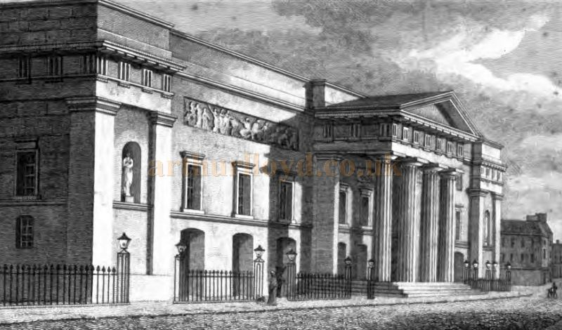The Second Covent Garden Theatre shortly after it opened - From 'The Covent Garden Journal' by Joseph Stockdale, published in 1810.