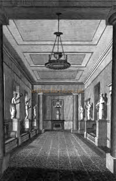 The Saloon of the Second Covent Garden Theatre shortly after it opened - From 'The Covent Garden Journal' by Joseph Stockdale, published in 1810.