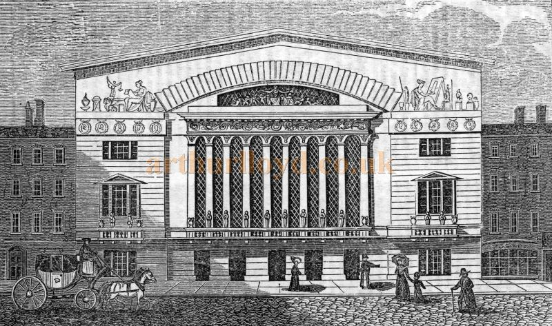 An engraving showing the Brunswick Theatre, Wellclose Square - From The Mirror, March 8th 1828