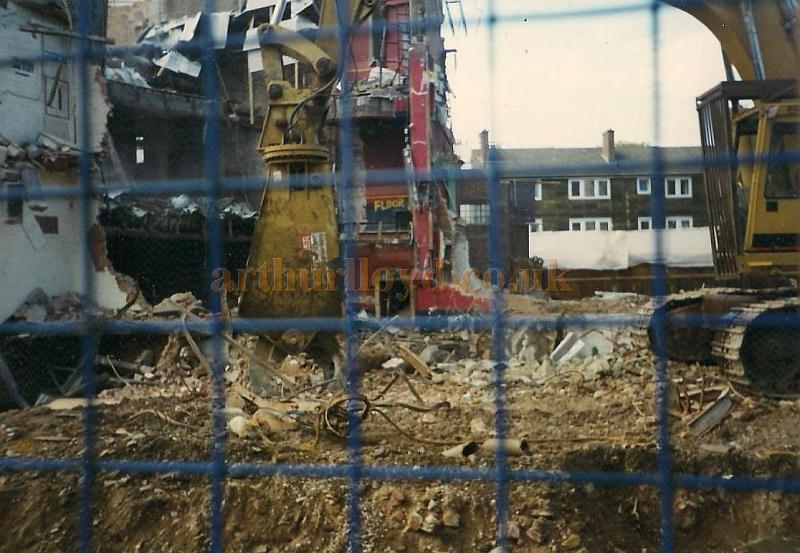 Demolition of the 1931 built Sadler's Wells Theatre in 1996 - Courtesy Jason Mullen.