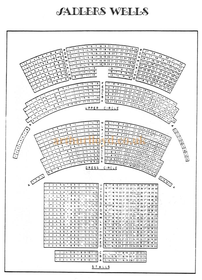A 1970s Seating Plan for the 1931 Sadler's Wells Theatre