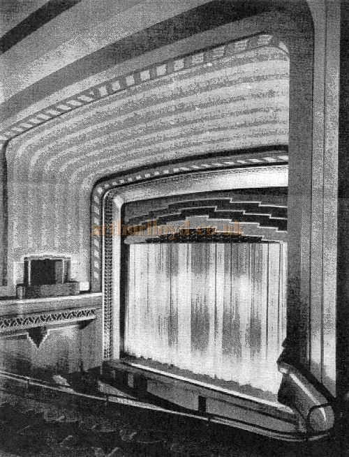The original auditorium and stage of the Saville Theatre when it first opened in 1931.