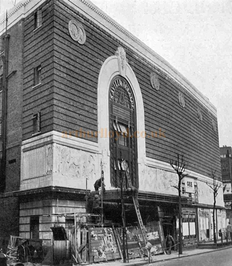 The Saville Theatre under construction in May 1931 - From The Sphere, May 9th 1931.