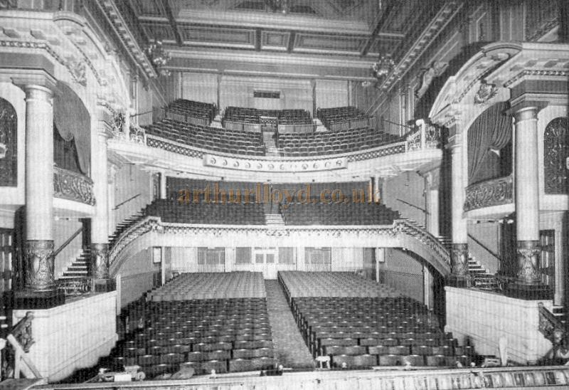 The auditorium of the Scala Theatre, Charlotte Street, London - From 'London Theatres and Music Halls' 1850 - 1950' by Diana Howard.