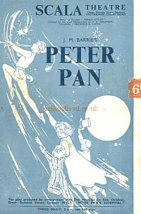 A programme for 'Peter Pan' at the Scala Theatre in 1951 - Courtesy Alan Chudley.