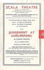 A programme for 'Judgement at Chelmsford' at the Scala Theatre on the 26th June 1947.
