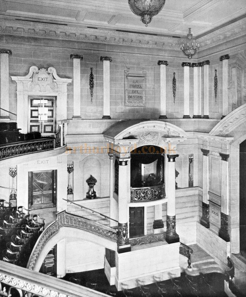 A wonderfully detailed photograph of the Auditorium of the Scala Theatre - From The Builder, December 2nd 1905.