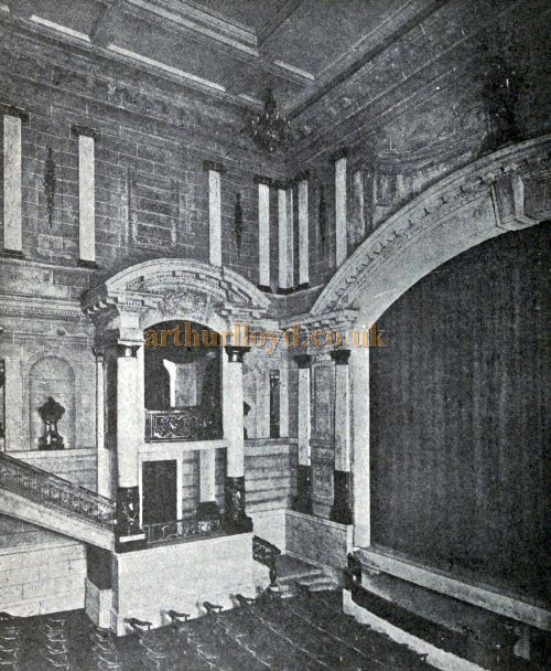 The Auditorium and Stage of the Scala Theatre - From 'Modern Theatre Construction' by Edward Bernard Kinsila, 1917.