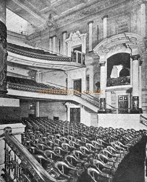 The Auditorium of the Scala Theatre - From 'Modern Theatre Construction' by Edward Bernard Kinsila, 1917.