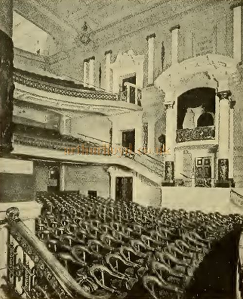 The auditorium of the Scala Theatre, Charlotte Street, London - From the Cinema News and Property Gazette in 1912.