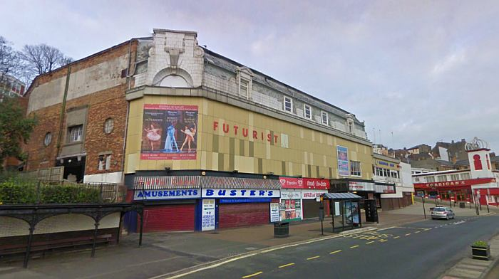 A Google Streetview image of the Futurist Theatre, Scarborough - Click to Interact