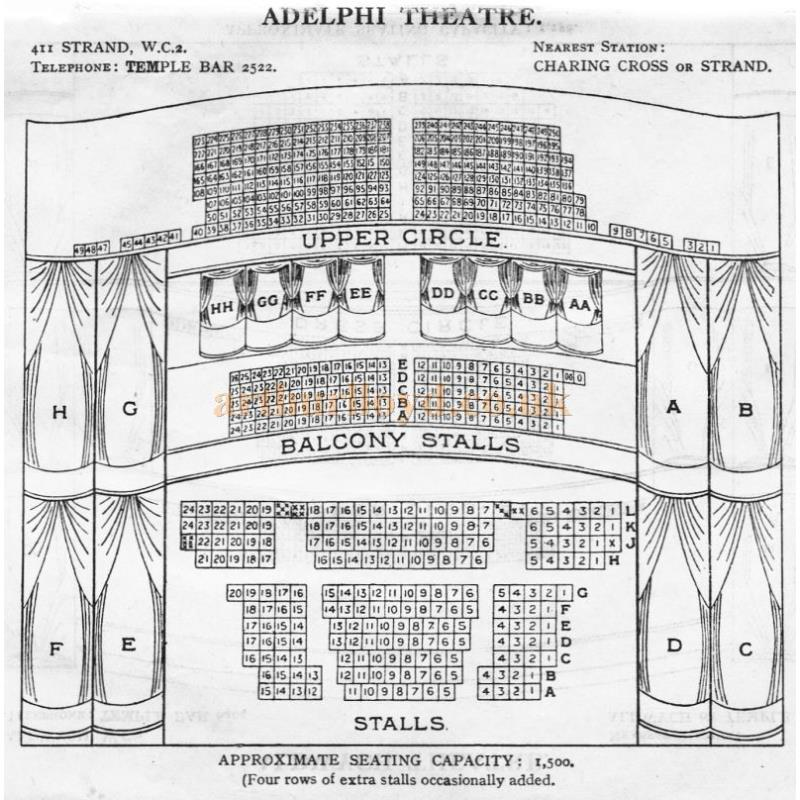 West End Theatre Seating Plans for 1930