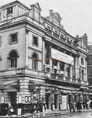 The Original Shaftesbury Theatre, from a period photograph.