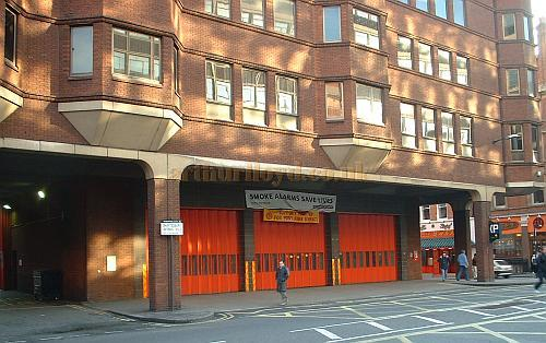 The Fire Station which was built on the site of the original Shaftesbury Theatre - Photo M.L. 2004.