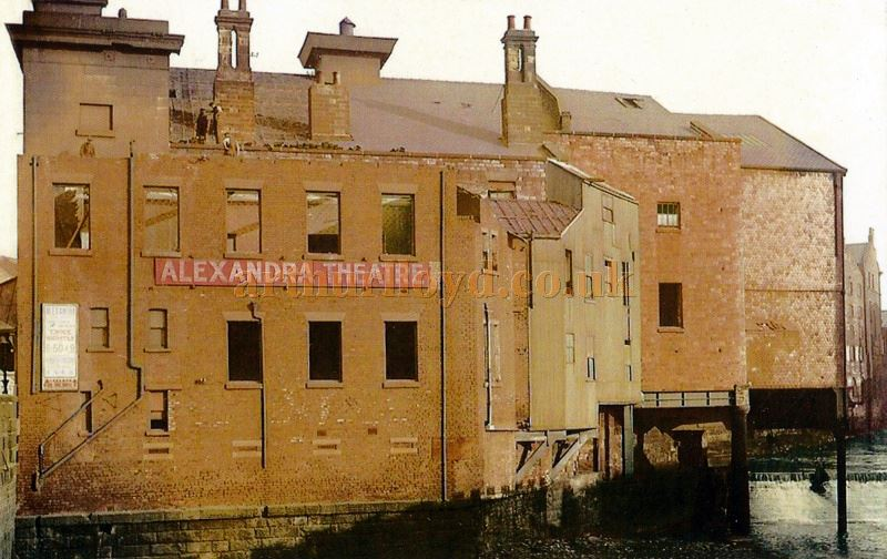 A Postcard showing the Alexandra Theatre, Sheffield after it had been closed in 1914 and shortly before it was demolished for road widening - Courtesy John Mounsey.