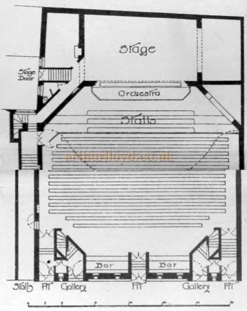 A Plan of the Alhambra Theatre, Attercliffe, Sheffield - From the Building News and Engineering Journal, 1st of April 1898.