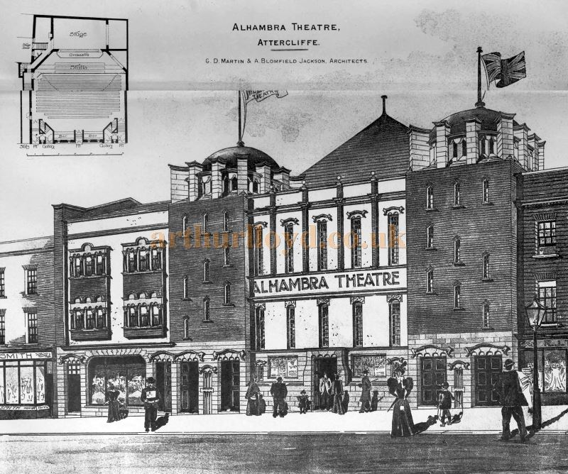 The Alhambra Theatre, Attercliffe, Sheffield - From the Building News and Engineering Journal, 1st of April 1898.