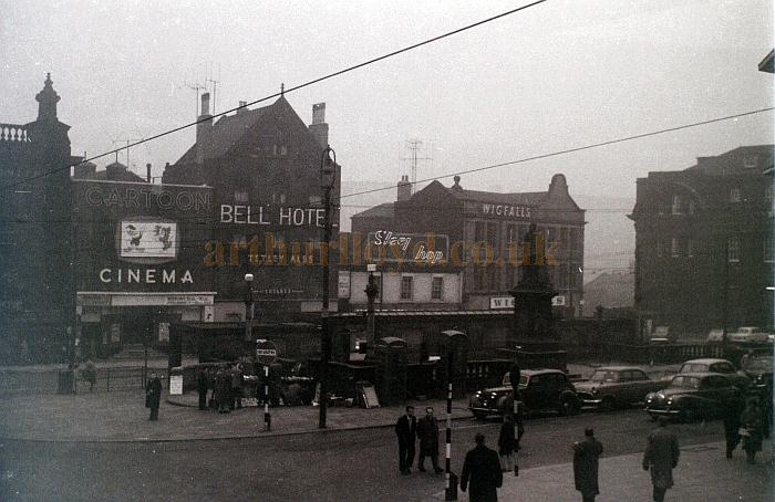 The Cartoon Cinema, Fitzalan Square, Sheffield in 1959, later to become the Classic Cinema - Courtesy Allan Hailstone.