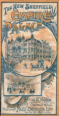 Programme for the New Sheffield Empire Palace - Courtesy Peter Charlton.