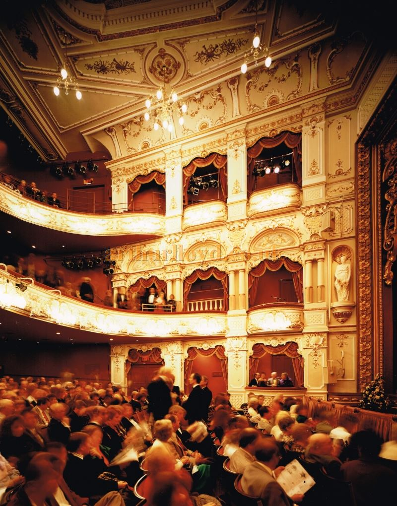 The auditorium of the Lyceum Theatre, Sheffield after its 1990 restoration - Photo: Richard Brett - Courtesy Roger Fox.